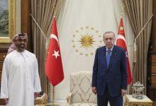 صورة الرئيس التركي يستقبل وفدا إماراتيا برئاسة طحنون بن زايد