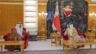"""صورة العاهل البحريني يستقبل رئيس """"الاتحادي الإماراتي"""""""