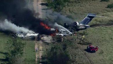 صورة تحطّم طائرة في أمريكا.. ونجاة جميع ركابها